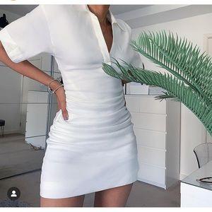 GORGEOUS ZARA NWT Rustic Ruched Dress